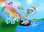 Rainbow Dash Through The Years