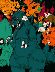 Godzilla Monster of monsters by Dokuromah