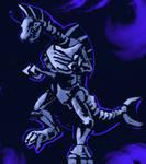 Nes godzilla creepypasta - Ghost titanosaurus by Dokuromah