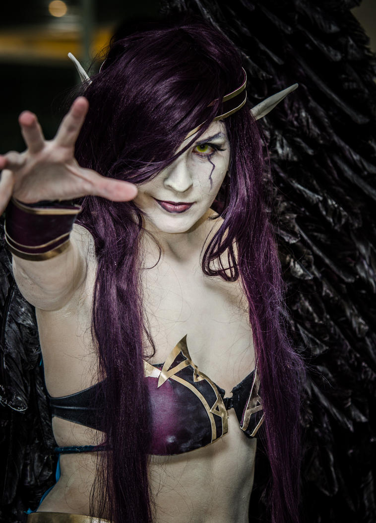Morgana the fallen angel by luna-ishtarcosplay