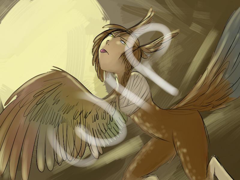 Birdbrain WIP by Unialada
