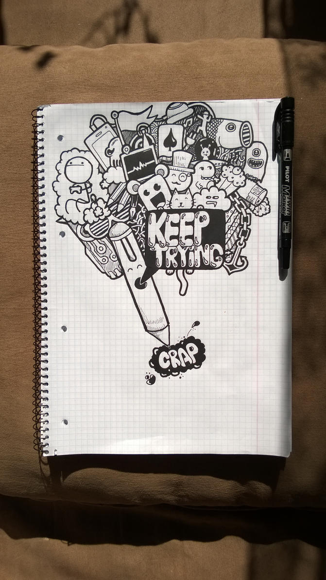 KEEP TRYING doodle by akAvion