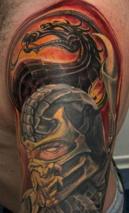 mortal kombat scorpion tattoo