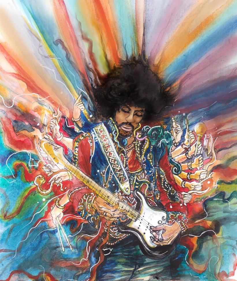 Jimi hendrix by l repstyle on deviantart - Jimi hendrix wallpaper psychedelic ...