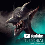 Grinning Demon - YouTube Digital Art Tutorial