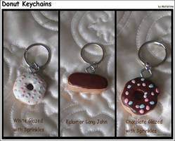 Donut Keychains by Mahkohime