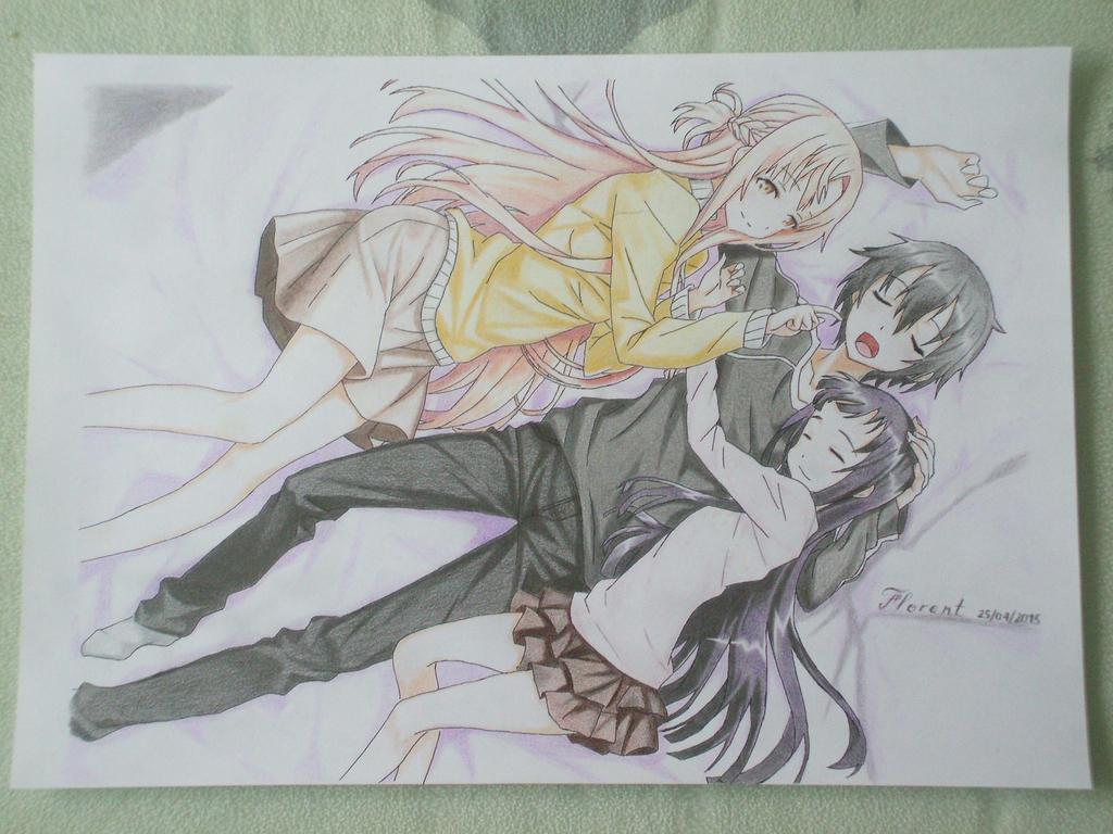 Yui asuna and kirito sao by fl0rang on deviantart