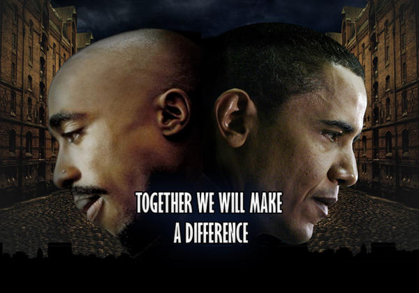 barack obama and tupac by lobosco04