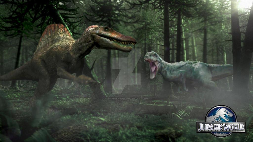 Indominus Rex vs Spinosaurus in their primes by ...
