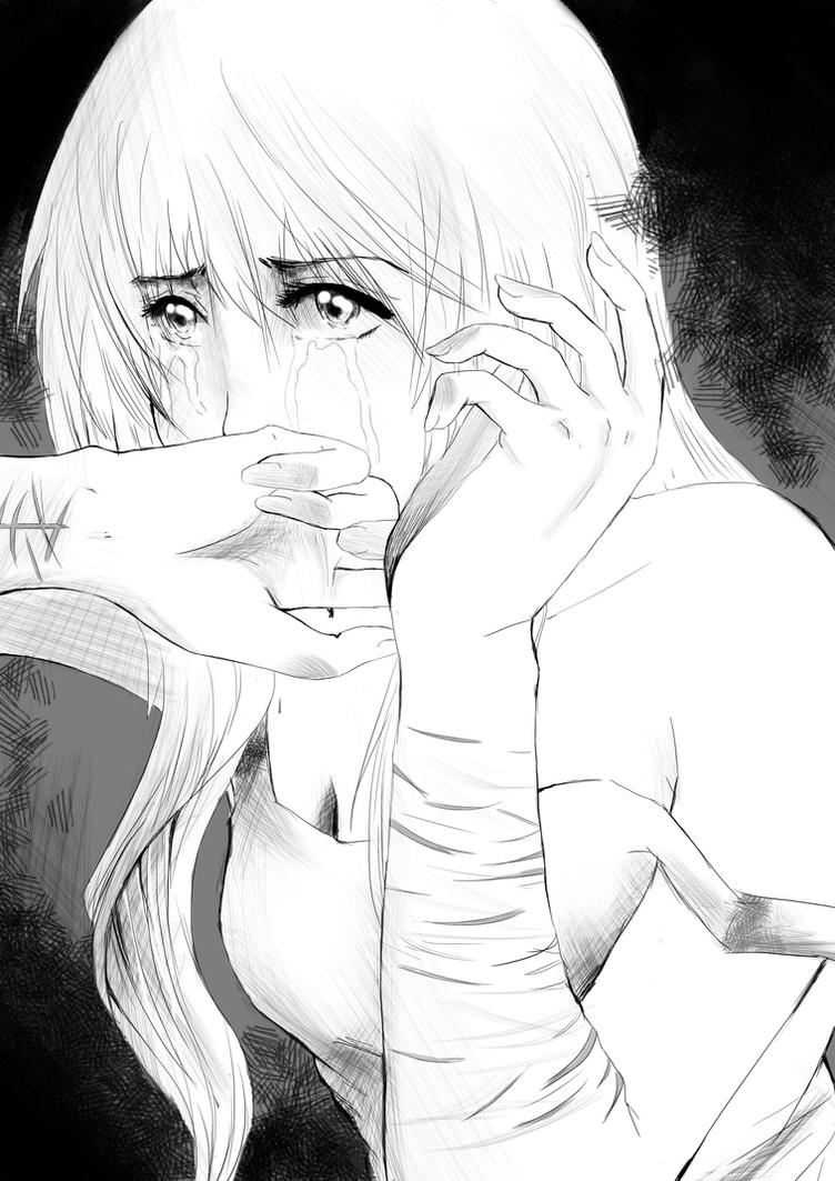 Who would love a girl with scars? by tsukiyo-art