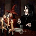Snape at the teacher's table