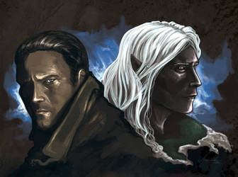Drizzt and Artemis by WhiteElzora