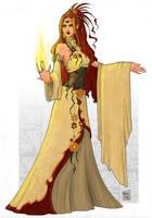 Druid elf by WhiteElzora