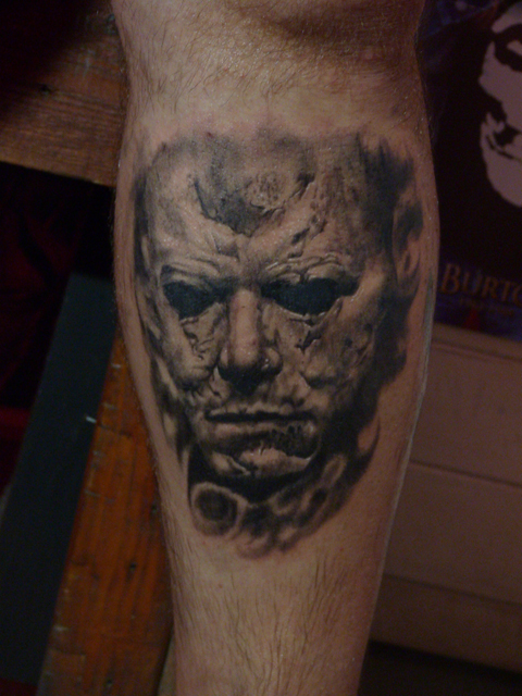 Michael myers tattoo by acrowley on deviantart for Michael myers tattoo
