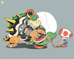 Bowser is Rudely Touching Yoshi