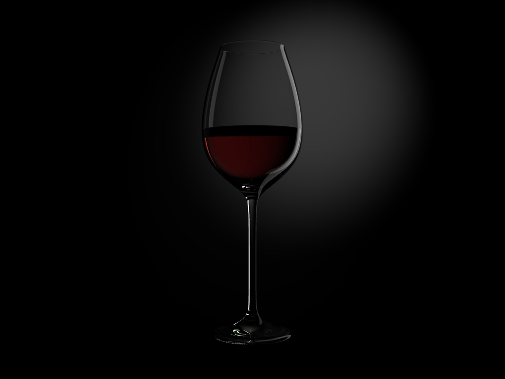 A Glass with Red Wine Black Background by chelland