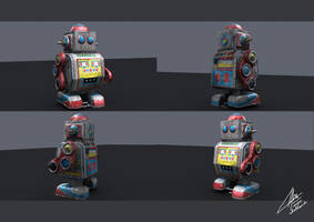 Tin Robot by chelland