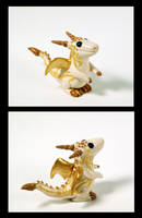 Ivory Dragon Figurine