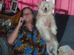 .:Bo in mom's lap:.