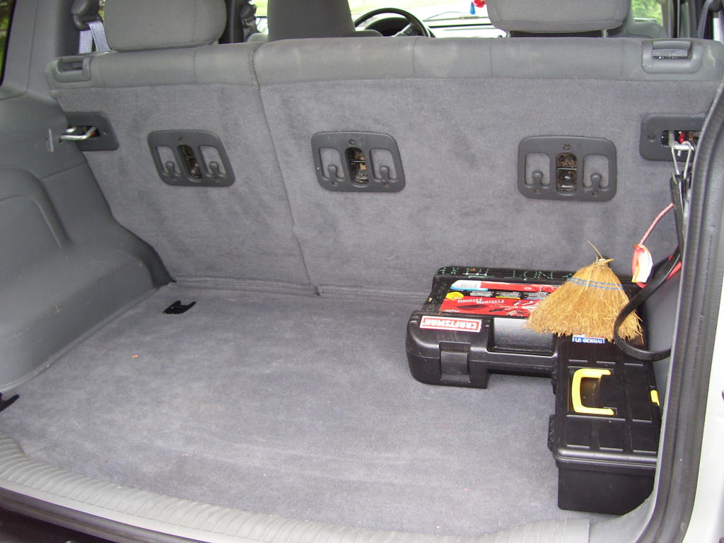 Trunk of new Jeep