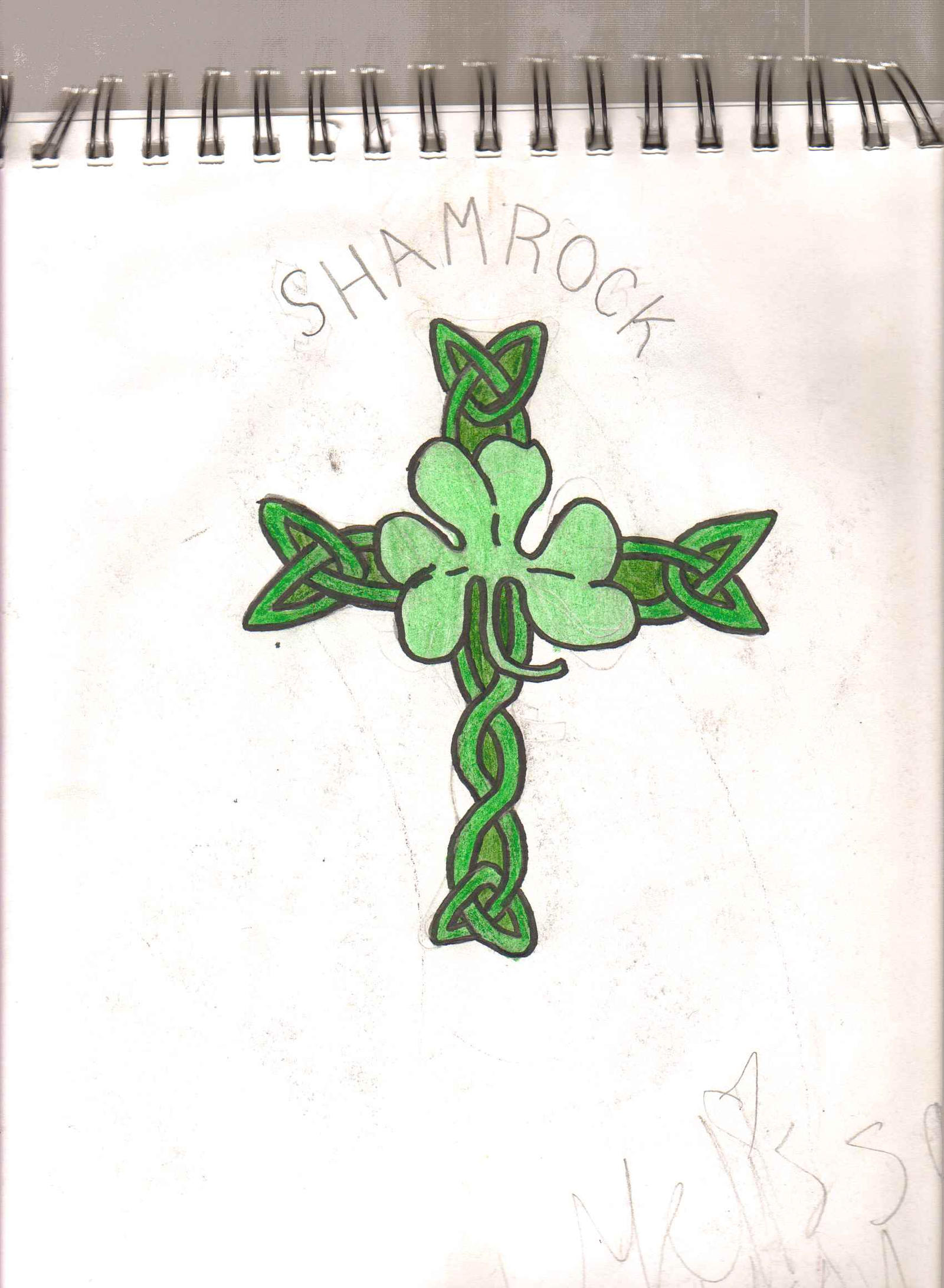 Celtic Cross With Shamrock Celtic shamrock cross tattoo