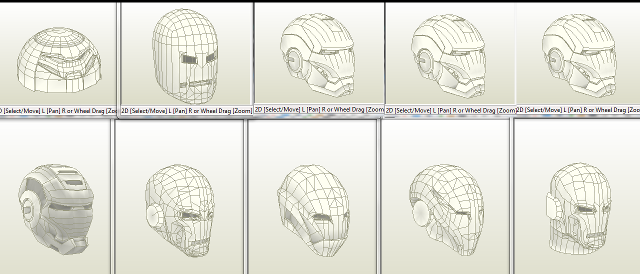 Alien Head Pepakura Files