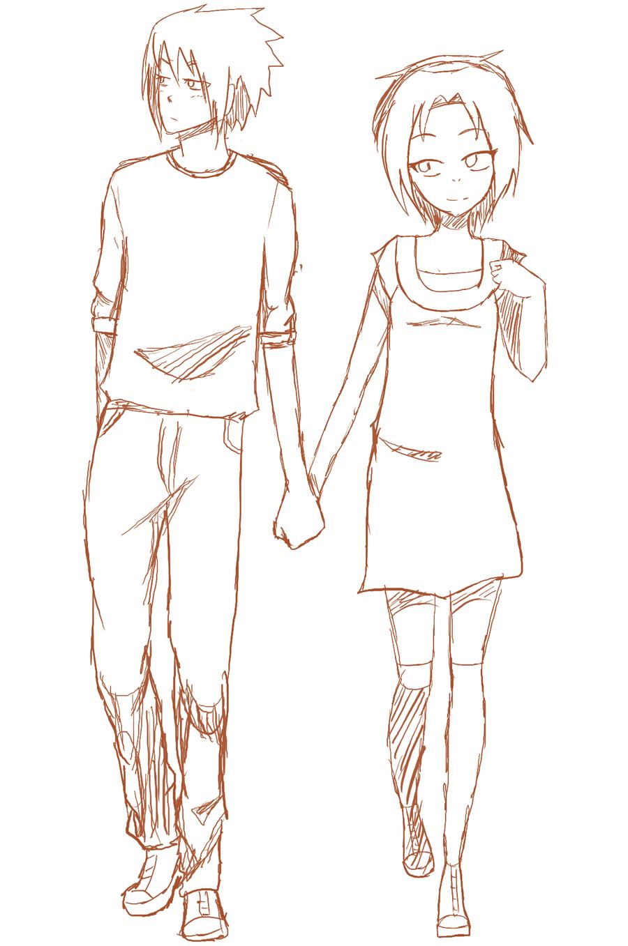 anime couple h honey