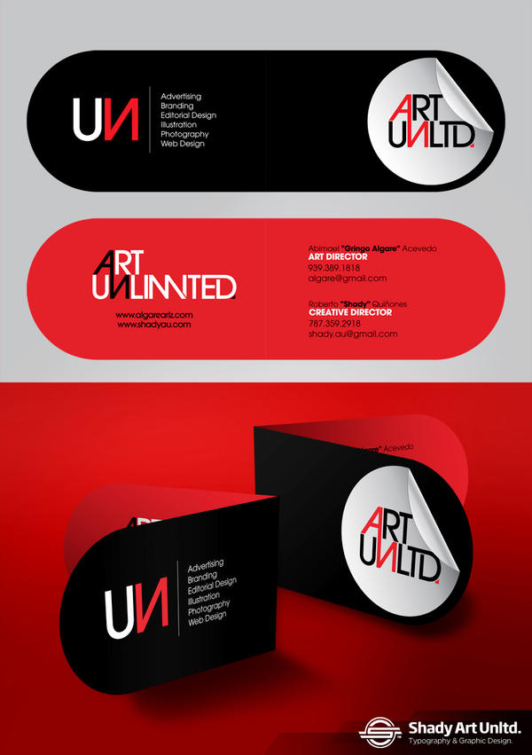 ART UNLTD. Business Card by shadyau