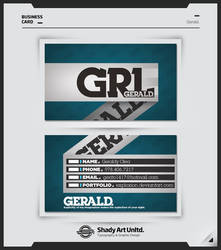 GERALD. Business Card by shadyau