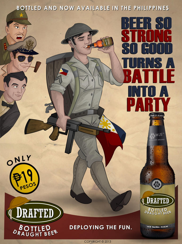 Drafted Beer Ad. Poster by wolfjedisamuel