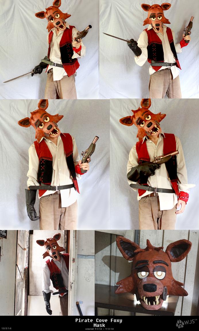 Pirate Cove Foxy - Mask by wolfjedisamuel