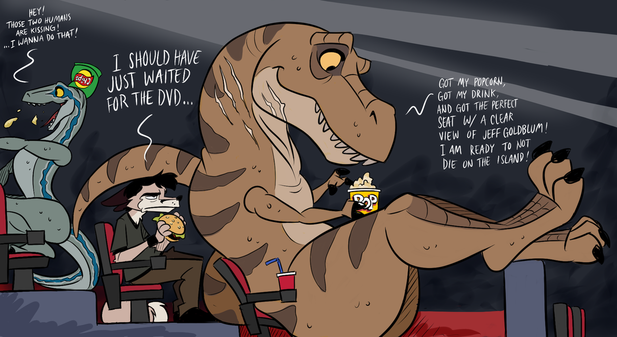 Jurassic Problem (Doodle) by wolfjedisamuel