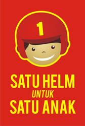 logo satu helm untuk satu anak by rase4