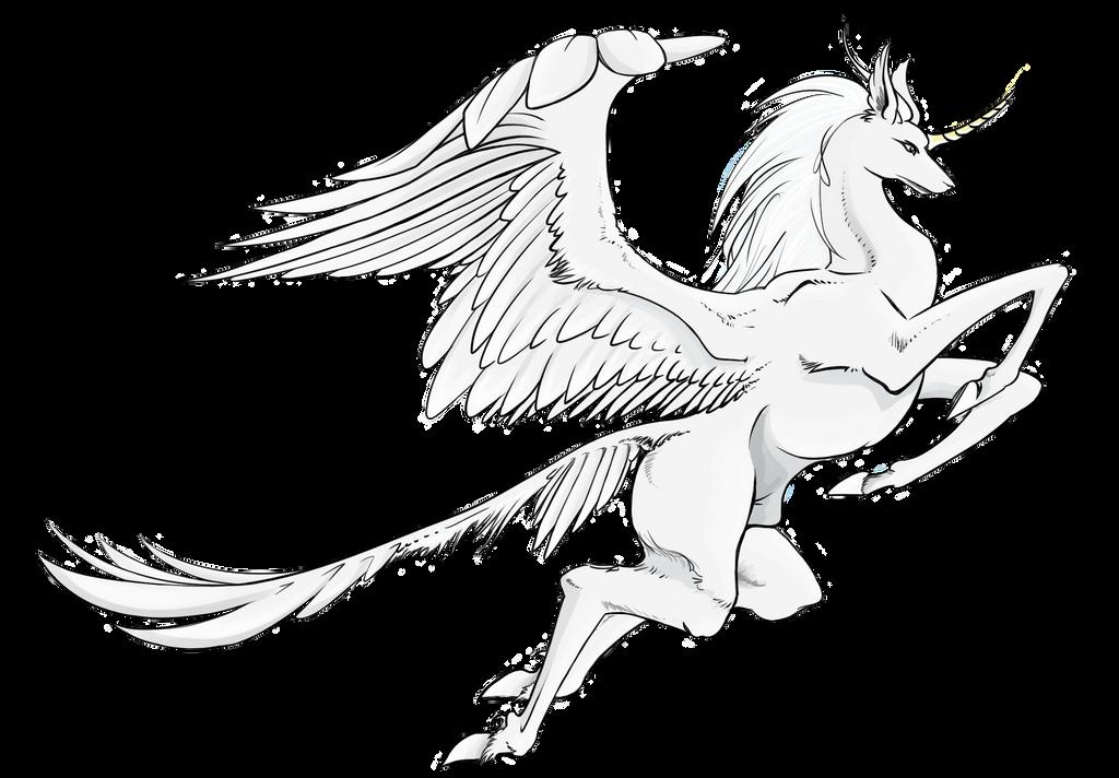 Alicorn - White Winged Unicorn by Kazaharya on DeviantArt