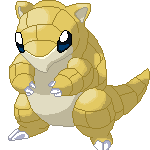 pixel over sandshrew by LucarioSoul2