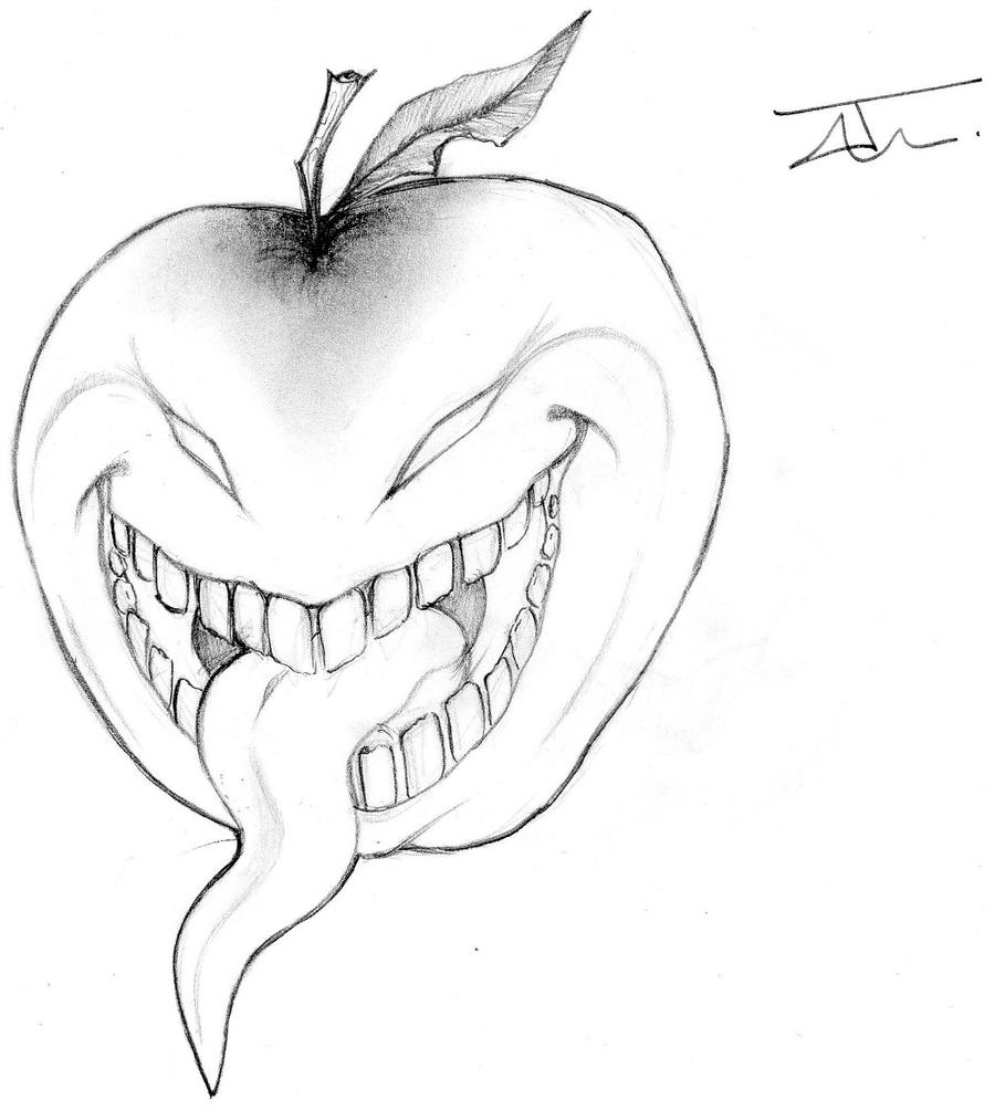 SCARY APPLE by NienorGreenfield on deviantART