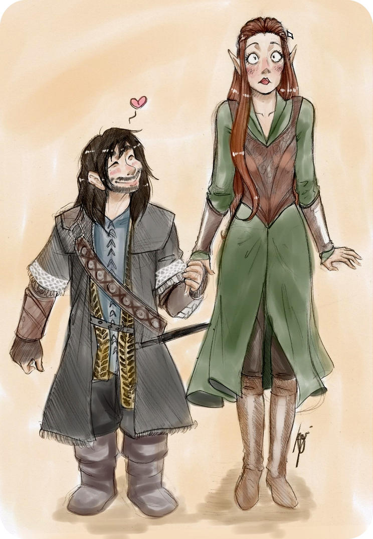 Kili and Tauriel by NienorGreenfield