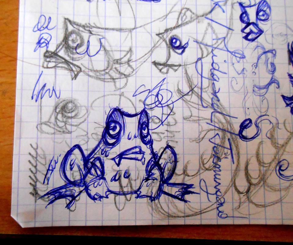 Lil Frog Sketch by NienorGreenfield