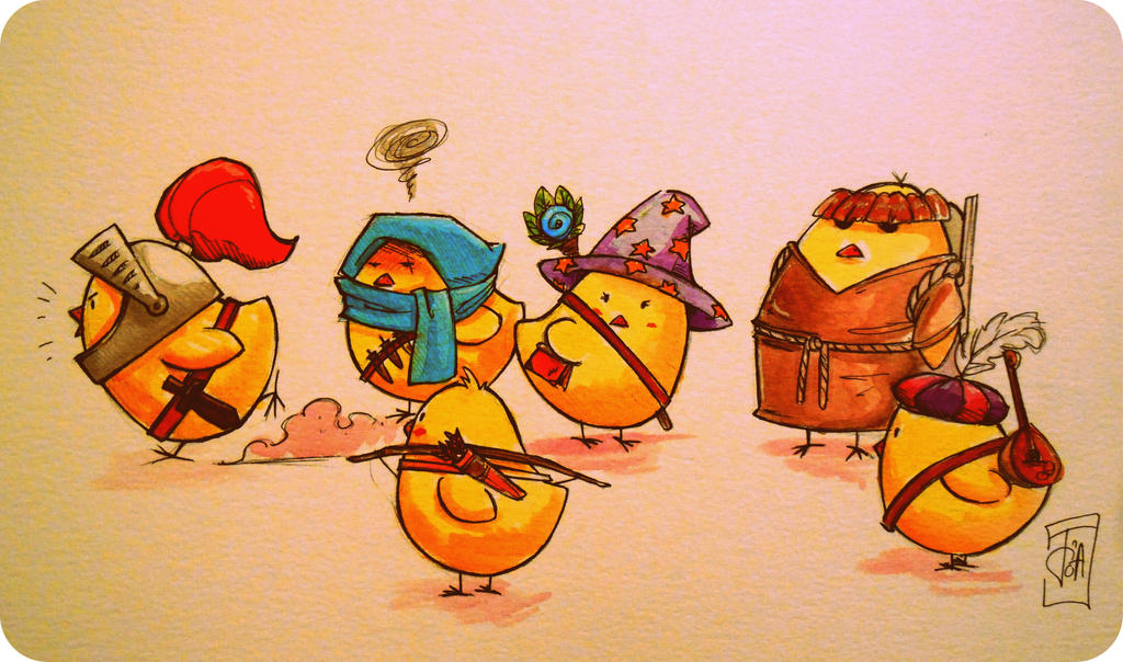 Chick team by NienorGreenfield