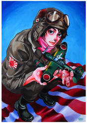The pilot of the Japanese Navy by KaneoyaSachiko