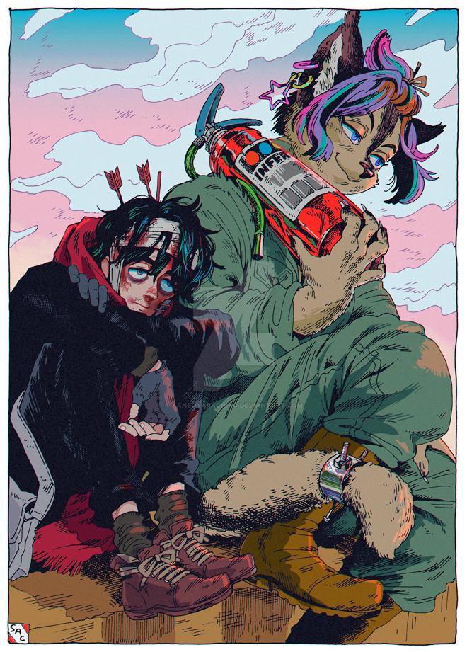 Wilderness And Inferno Beast by KaneoyaSachiko