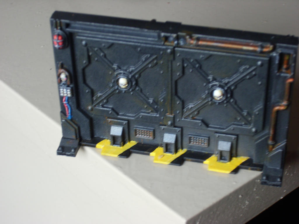 Another Necromunda Underhive Blast Door by Shakalooloo
