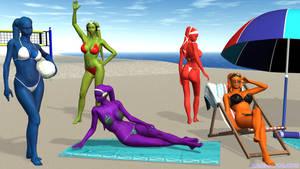 Twi'lek Beach Birthday Bash by Giolon