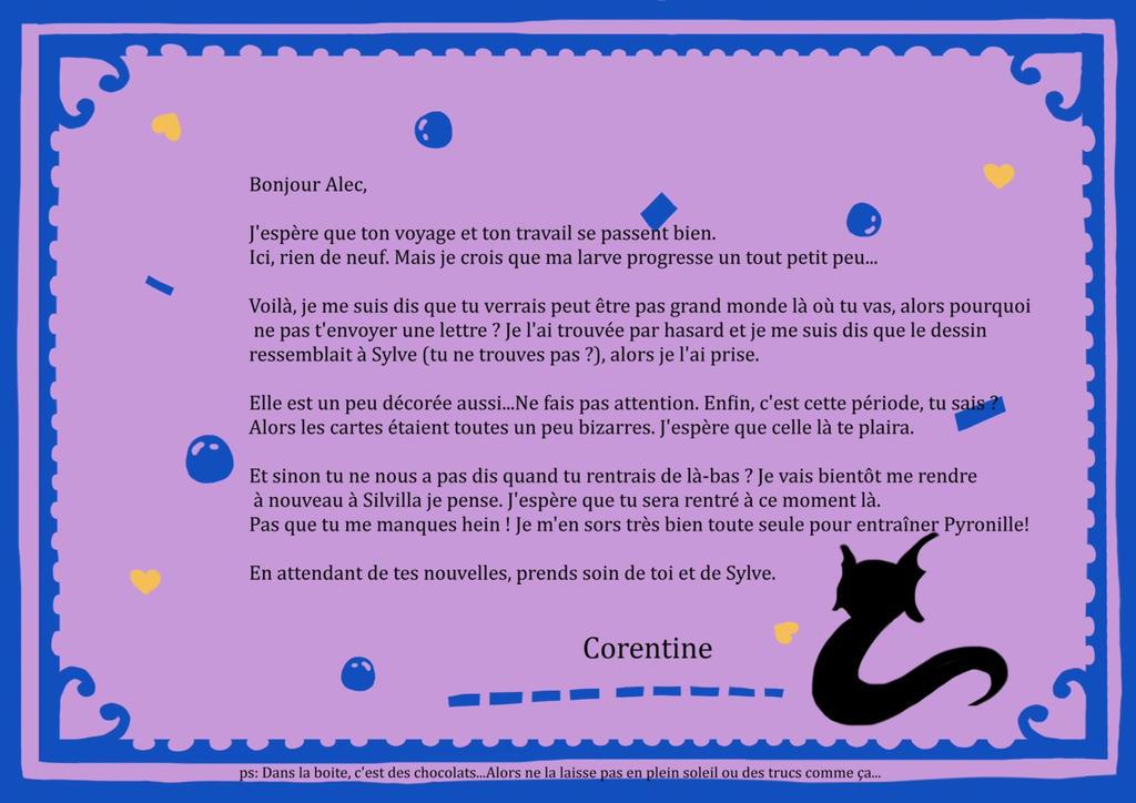 Lettre bleu ciel valentine edition - Pour Alec by Dilkem
