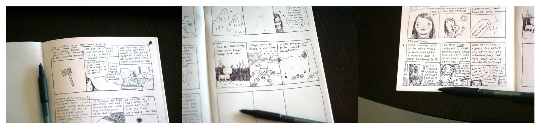 New comics for new zine by perfectnoseclub