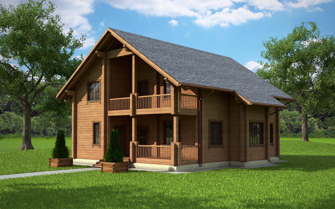 Cottage house one by lsr33 on deviantart for Adirondack lake house plans