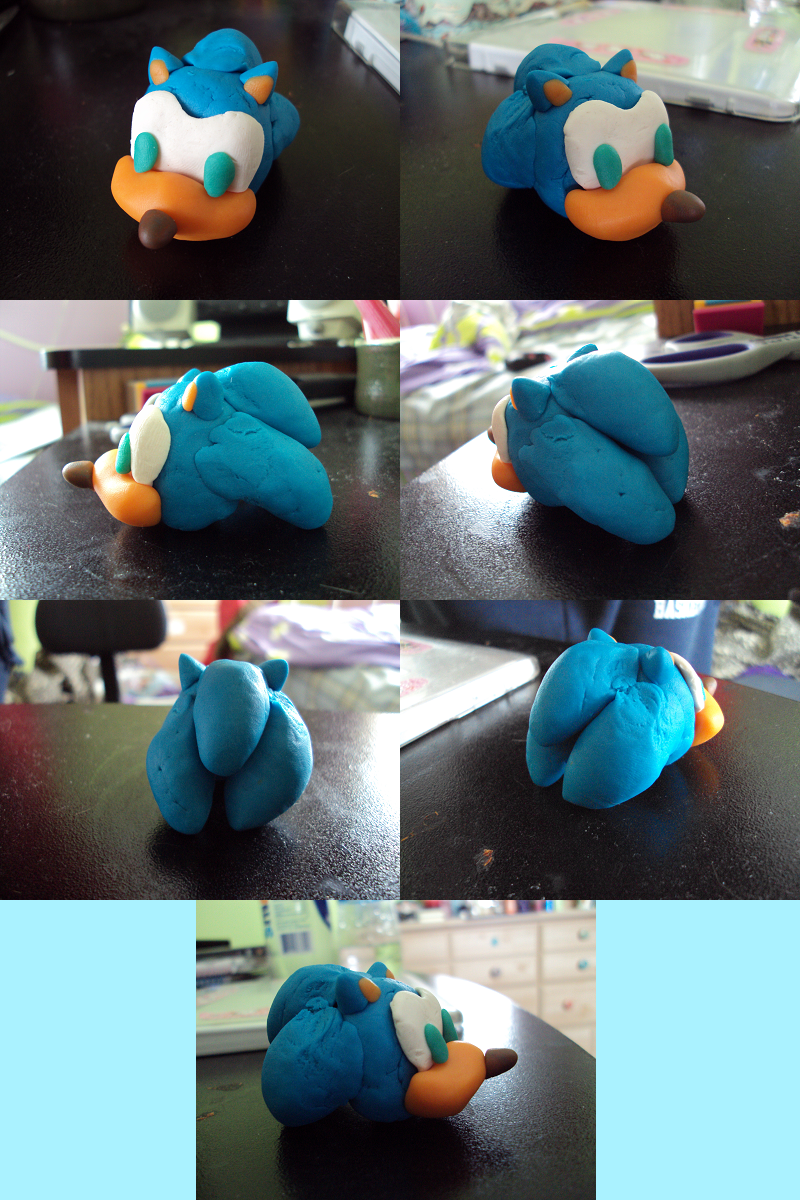 Play-Doh Sonic by alliechu