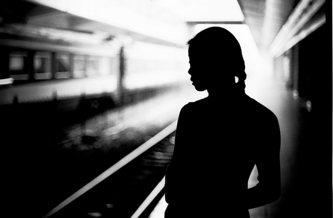 Silhouette at the East Train Station by Peanutsalad