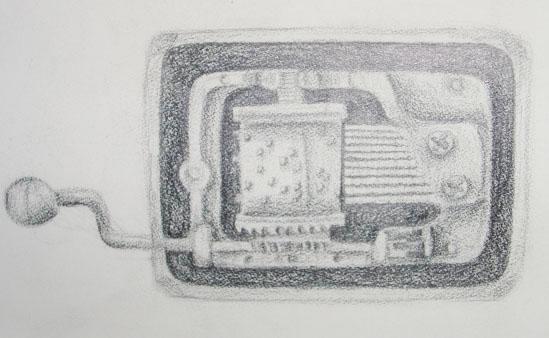 Pencil Drawing: Music Box by jxsu on DeviantArt