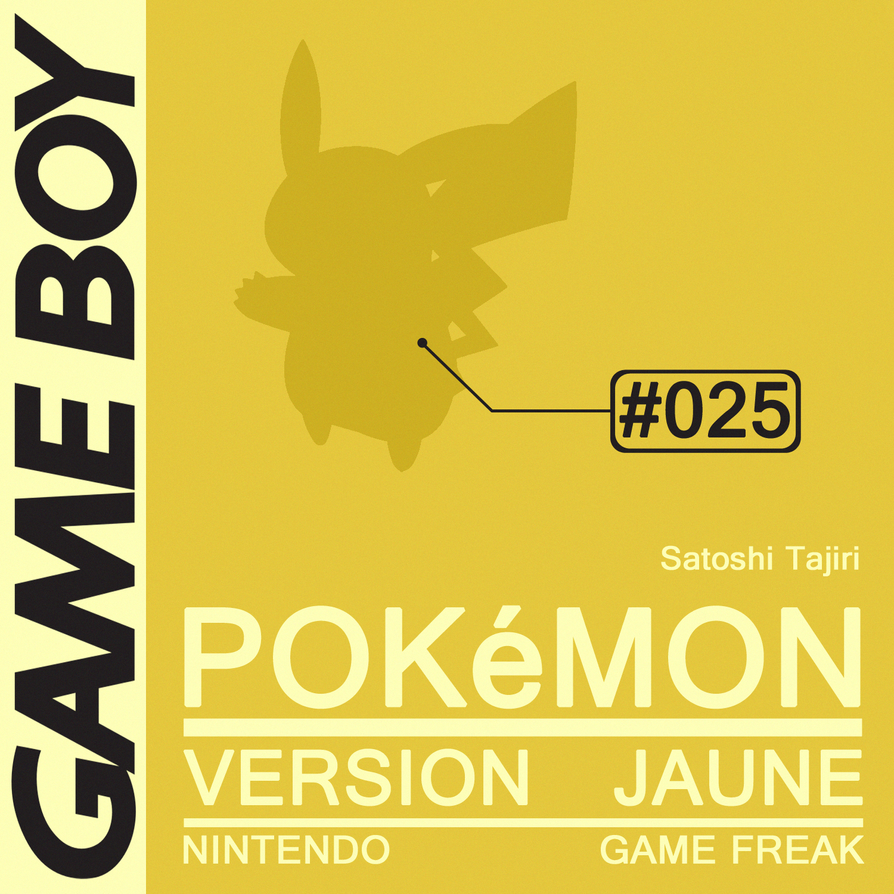 Minimal Game Posters - Pokemon Yellow Version by Waddle-Moogle
